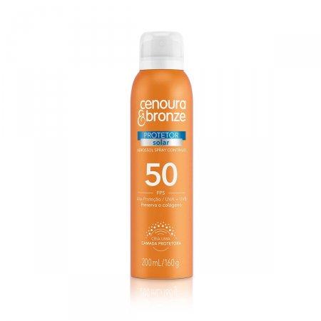 Protetor Solar Corporal Cenoura & Bronze Spray FPS 50 com 200ml