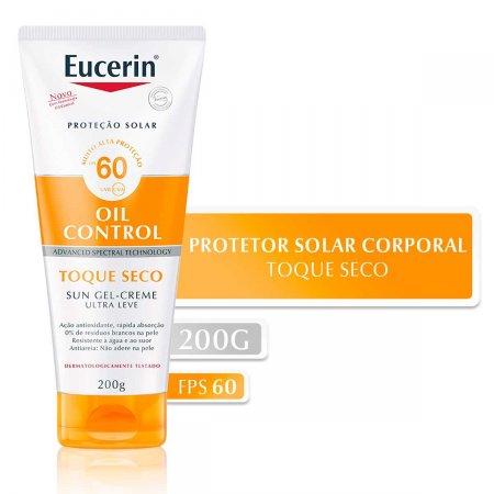 Protetor Solar Facial Eucerin Sun Oil Control Gel-Creme Toque Seco FPS60 200ml  