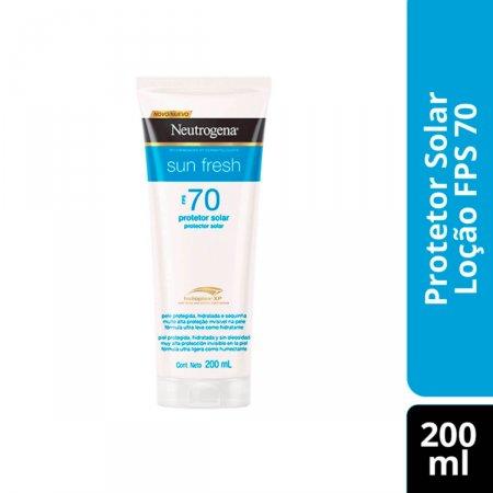 Protetor Solar Corporal Neutrogena Sun Fresh FPS 70 com 200ml