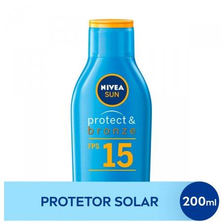 Protetor Solar Corporal Nivea Sun Protect & Bronze FPS 15 com 200ml