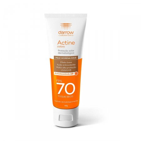 Protetor Solar Facial Actine Pele Morena Mais FPS70 40g |