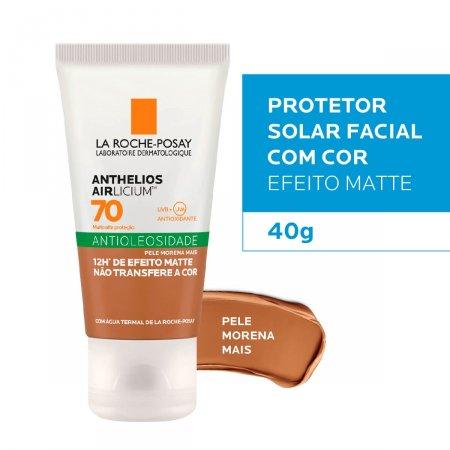 Protetor Solar Facial La Roche-Posay Anthelios Airlicium Antioleosidade Pele Morena Mais FPS 70 com 40g