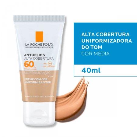 Protetor Solar Facial La Roche-Posay Anthelios Alta Cobertura Cor Média FPS 60 com 40ml