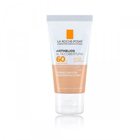 Protetor Solar Facial Anthelios Alta Cobertura FPS60 Cor Média