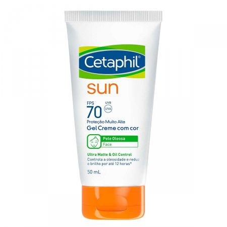 Protetor Solar Facial Cetaphil Sun Gel Creme com Cor FPS 70 com 50ml