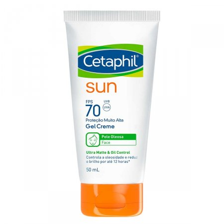 Protetor Solar Facial Cetaphil Sun Pele Oleosa Gel Creme FPS 70 com 50ml