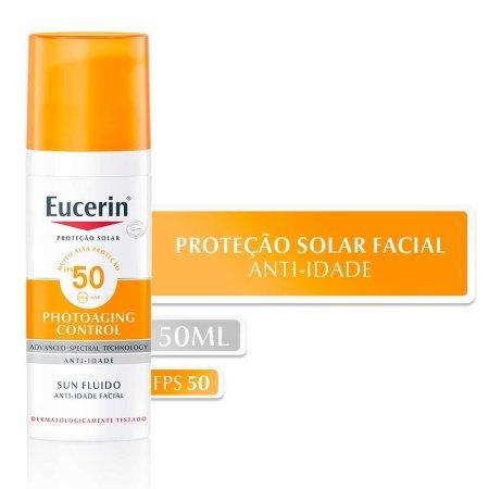 Protetor Solar Facial Eucerin Sun Fluido Anti-Idade FPS 50 com 50g