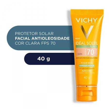Protetor Solar Facial Idéal Soleil Purify Cor Clara FPS70 40g |