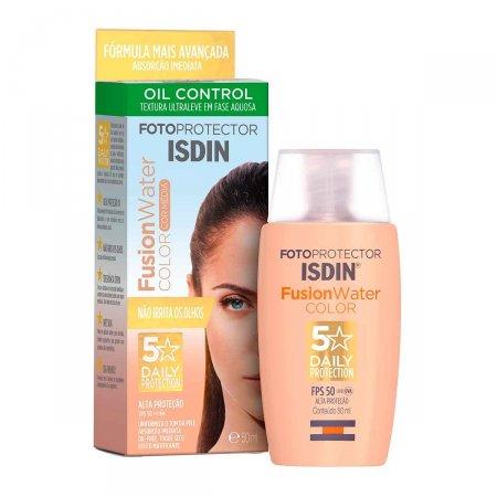 Protetor Solar Facial Isdin Fotoprotector Fusion Water Color Média FPS50+ com 50ml | Foto 1