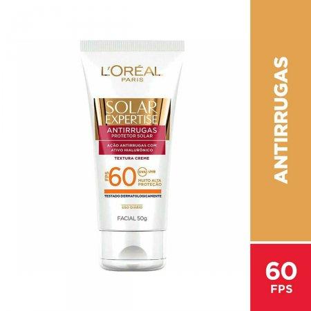 Protetor Solar Facial Antirrugas L'Oréal Expertise FPS 60 com 50g