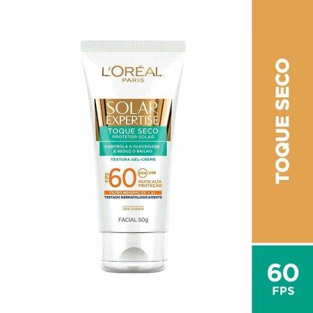 Protetor Solar Facial L'Oréal Expertise Toque Seco FPS 60 com 50g
