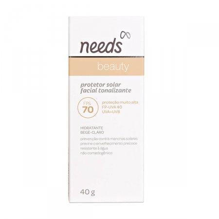 Protetor Solar Facial Needs Beauty Bege Claro FPS70