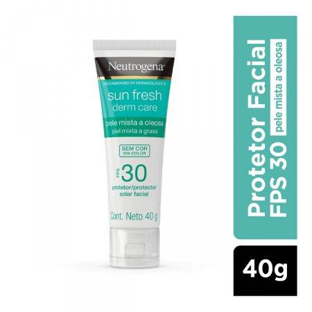 Protetor Solar Facial Neutrogena Sun Fresh Derm Care Sem Cor FPS 30 com 40g