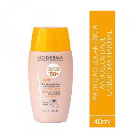 Protetor Solar Facial Bioderma Photoderm Nude Touch Claro FPS50+ com 40ml