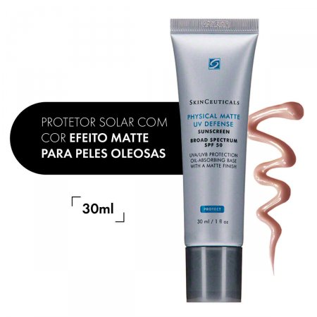 Protetor Solar Facial Physical Matte com Cor FPS50