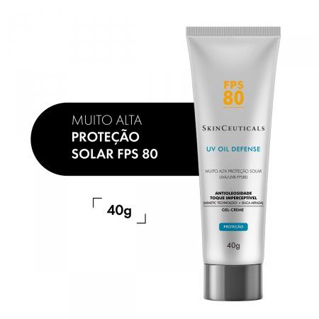 Protetor Solar Facial UV Oil Defense sem Cor FPS80