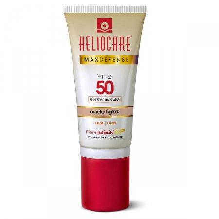 Protetor Solar Gel Creme Color Heliocare Max Defense Nude Light FPS50 50g |