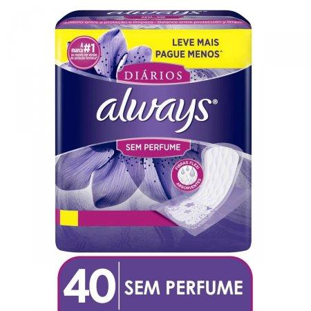 Protetor Diário Always Sem Perfume