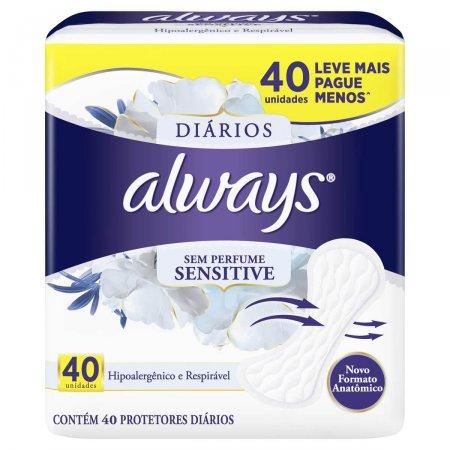 Protetor Diário Always Sensitive