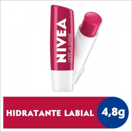Hidratante Labial Nivea Cereja Shine com 4,8g