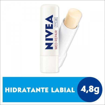 Hidratante Labial Nivea Med Repair FPS 15 com 4,8g
