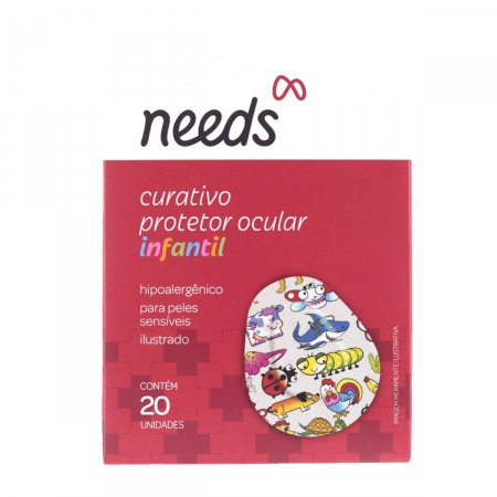 Protetor Ocular Infantil Needs com 20 unidades