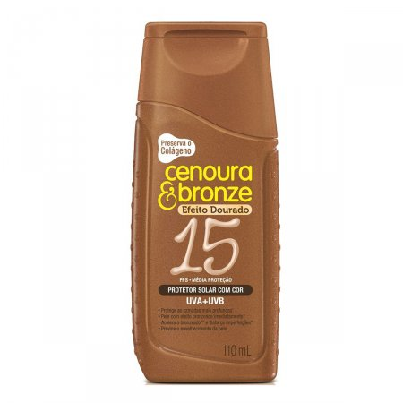 Protetor Solar Cenoura & Bronze Efeito Dourado FPS15