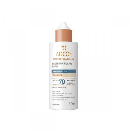 Protetor Solar Facial Adcos Fluido Tonalizante Shield Protection FPS70