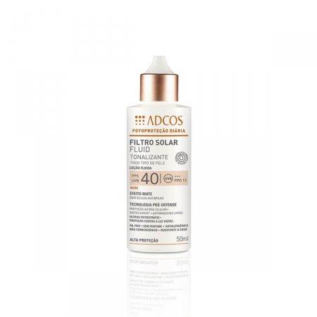 Protetor Solar Facial Adcos Fotoproteção Fluido Tonalizante Nude FPS 40