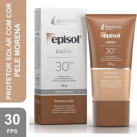 Protetor Solar Facial Episol Color Pele Morena FPS30