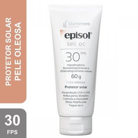 Protetor Solar Facial Episol Sec OC Pele Oleosa FPS 30 com 60g