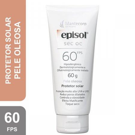 Protetor Solar Facial Episol Sec OC Pele Oleosa FPS 60 com 60g