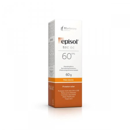 Protetor Solar Facial Episol Sec OC Pele Oleosa FPS60