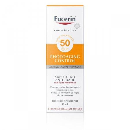 Protetor Solar Facial Eucerin Sun Fluido Anti-Idade FPS50