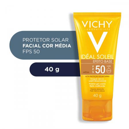 Protetor Solar Facial Idéal Soleil Efeito Base Cor Média FPS50