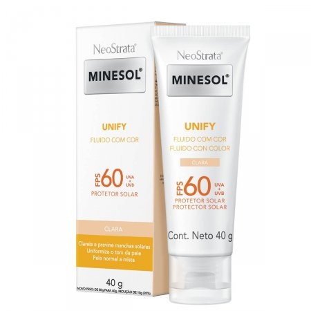 Protetor Solar Fluido Facial NeoStrata Minesol Unify Cor Clara FPS60