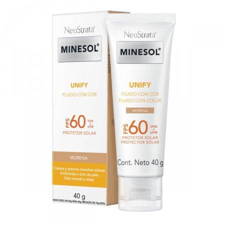 Protetor Solar Facial NeoStrata Minesol Unify Fluido Cor Morena FPS 60 com 40g