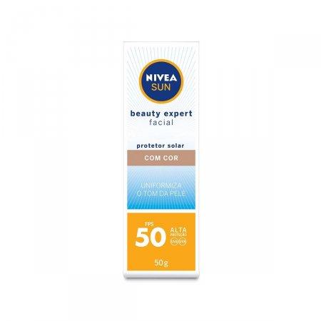 Protetor Solar Facial Nivea Sun Beauty Expert com Cor FPS50