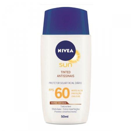 Protetor Solar Facial Nivea Sun Tinted Antissinais FPS60