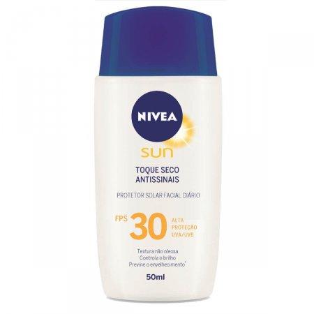 Protetor Solar Facial Toque Seco Antissinais FPS 30