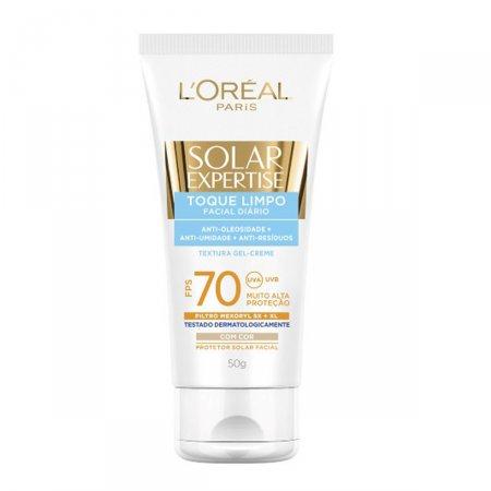 Protetor Solar Facial L'Oréal Expertise Toque Limpo com Cor FPS70