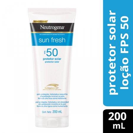 Protetor Solar Corporal Neutrogena Sun Fresh FPS 50 com 200ml