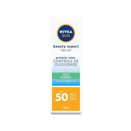 Protetor Solar Facial Nivea Sun Beauty Expert Pele Oleosa FPS50
