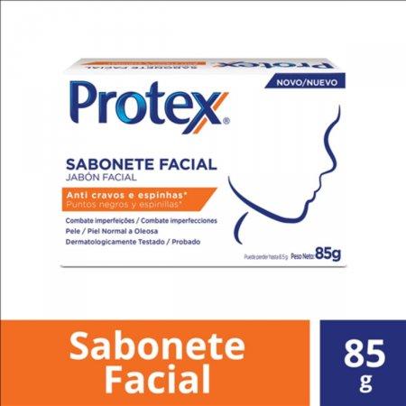 Sabonete Facial em Barra Protex Anti Cravos e Espinhas com 85g