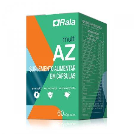 Suplemento Alimentar Raia Multi AZ com 60 cápsulas