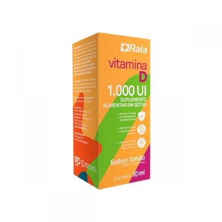Vitamina D 1.000UI Raia Sabor Limão Gotas com 10ml