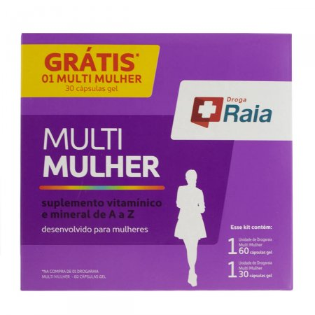 Kit Suplemento Vitamínico Droga Raia Multi Mulher