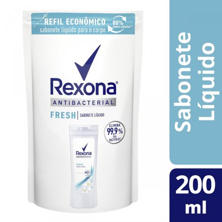 Refil Sabonete Líquido Rexona Antibacterial Fresh com 200ml