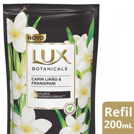 Refil Sabonete Líquido Lux Botanicals Capim Limão & Frangipani com 200ml