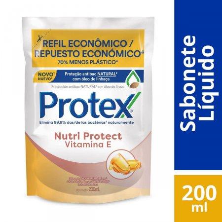 Refil Sabonete Líquido Corporal Protex Nutri Protect Vitamina E com 200ml